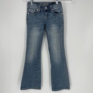 Rock and Roll Cowgirl Light Denim Jeans Flare Leg